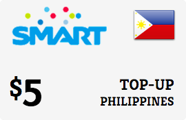 $5.00 Smart Philippines Prepaid Wireless Top-Up