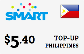 $5.40 Smart Philippines Prepaid Wireless Top-Up