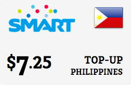 $7.25 Smart Philippines Prepaid Wireless Top-Up