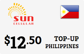 $12.50 Sun Cellular Philippines Prepaid Wireless Top-Up