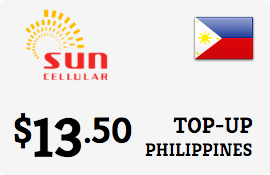 $13.50 Sun Cellular Philippines Prepaid Wireless Top-Up
