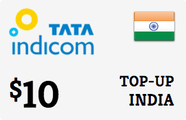 $10.00 Tata Indicom India Prepaid Wireless Top-Up