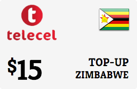 $15.00 Telecel Zimbabwe Prepaid Wireless Top-Up