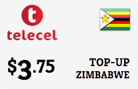 $3.75 Telecel Zimbabwe Prepaid Wireless Top-Up