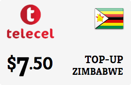 $7.50 Telecel Zimbabwe Prepaid Wireless Top-Up