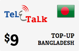 $9.00 Teletalk Bangladesh Prepaid Wireless Top-Up