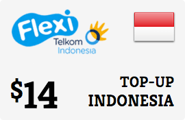 $14.00 Telkom Flexi Indonesia Prepaid Wireless Top-Up