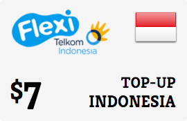 $7.00 Telkom Flexi Indonesia Prepaid Wireless Top-Up