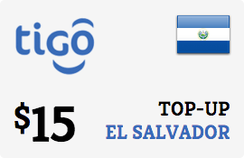 $15.00 Tigo El Salvador Prepaid Wireless Top-Up
