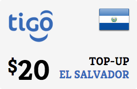 $20.00 Tigo El Salvador Prepaid Wireless Top-Up