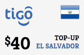 $40.00 Tigo El Salvador Prepaid Wireless Top-Up