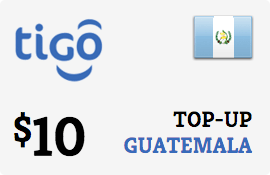 $10.00 Tigo Guatemala Prepaid Wireless Top-Up