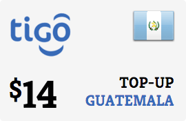 $14.00 Tigo Guatemala Prepaid Wireless Top-Up