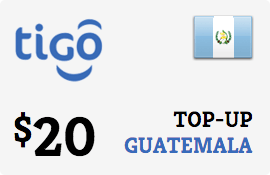 $20.00 Tigo Guatemala Prepaid Wireless Top-Up