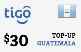 $30.00 Tigo Guatemala Prepaid Wireless Top-Up