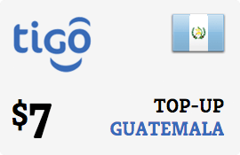$7.00 Tigo Guatemala Prepaid Wireless Top-Up