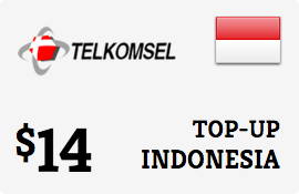 $14.00 Telkomsel Simpati Indonesia Prepaid Wireless Top-Up