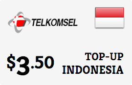 $3.50 Telkomsel Simpati Indonesia Prepaid Wireless Top-Up