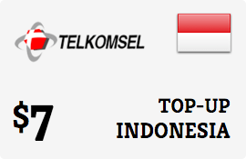 $7.00 Telkomsel Simpati Indonesia Prepaid Wireless Top-Up