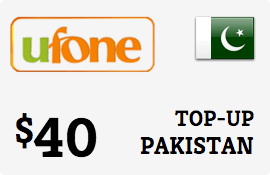 $40.00 Ufone Pakistan Prepaid Wireless Top-Up