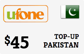 $45.00 Ufone Pakistan Prepaid Wireless Top-Up