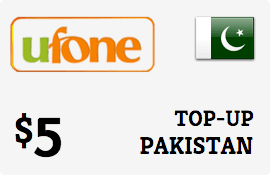 $5.00 Ufone Pakistan Prepaid Wireless Top-Up