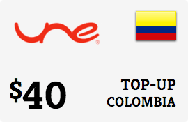$40.00 UNE Colombia Prepaid Wireless Top-Up
