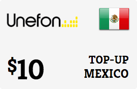 $10.00 Unefon Mexico Prepaid Wireless Top-Up
