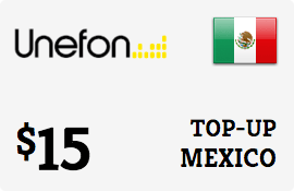 $15.00 Unefon Mexico Prepaid Wireless Top-Up