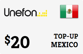 $20.00 Unefon Mexico Prepaid Wireless Top-Up