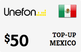 $50.00 Unefon Mexico Prepaid Wireless Top-Up