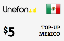 $5.00 Unefon Mexico Prepaid Wireless Top-Up