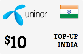 $10.00 Uninor India Prepaid Wireless Top-Up