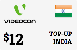 $12.00 Videocon India Prepaid Wireless Top-Up