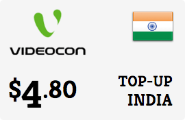 $4.80 Videocon India Prepaid Wireless Top-Up