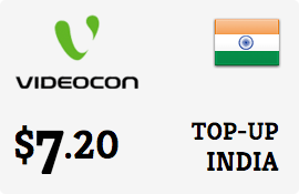$7.20 Videocon India Prepaid Wireless Top-Up