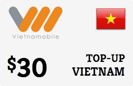 Buy the $30.00 Vietnammobile Vietnam  Prepaid Wireless Top-Up | On SALE for Only $30.00