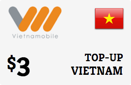 $3.00 Vietnammobile Vietnam  Prepaid Wireless Top-Up