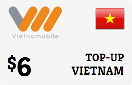 $6.00 Vietnammobile Vietnam  Prepaid Wireless Top-Up