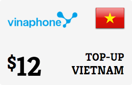 $12.00 Vinaphone Vietnam  Prepaid Wireless Top-Up