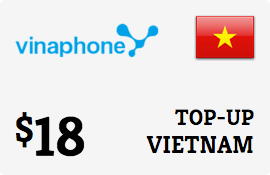 $18.00 Vinaphone Vietnam  Prepaid Wireless Top-Up