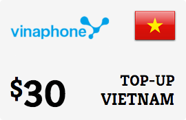 $30.00 Vinaphone Vietnam  Prepaid Wireless Top-Up