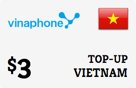 $3.00 Vinaphone Vietnam  Prepaid Wireless Top-Up