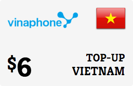 $6.00 Vinaphone Vietnam  Prepaid Wireless Top-Up