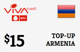 $15.00 VivaCell-MTS Armenia Prepaid Wireless Top-Up