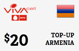 $20.00 VivaCell-MTS Armenia Prepaid Wireless Top-Up