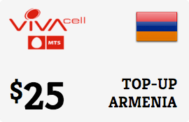 $25.00 VivaCell-MTS Armenia Prepaid Wireless Top-Up