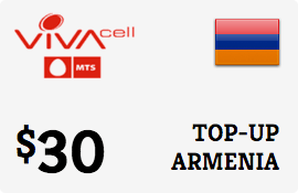 $30.00 VivaCell-MTS Armenia Prepaid Wireless Top-Up