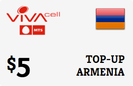 $5.00 VivaCell-MTS Armenia Prepaid Wireless Top-Up