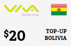 $20.00 Viva Bolivia  Prepaid Wireless Top-Up